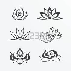 Image result for stylized lotus tattoo
