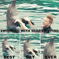 Oh. My. Goodness! This is the Most ADORABLE THING EVER!!! Love Scott from Pentatonix.