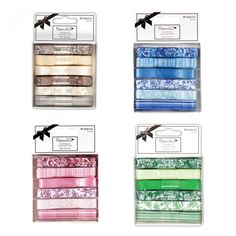 Wstążki satynowe Papermania 4 zestawy kolorów W-wa