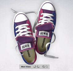 Bisexual pride converse! awh this is so awesome :')