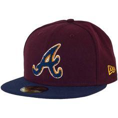 New Era Chenille Plique Cap Atlanta Braves maroon/ocean ★★★★★