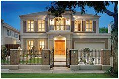 Modern Georgian Style Home 2 Storey House Design, House Front Design, Modern House Design, Classic House Exterior, Dream House Exterior, Facade Design, Exterior Design, Casa Top, Villa