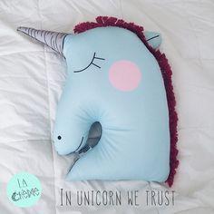 unicorn pillow In unicorn we trust  #unicornhair #unicornpower #cojinunicornio