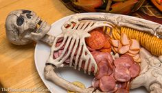 Skeleton Meat and Cheese Platter