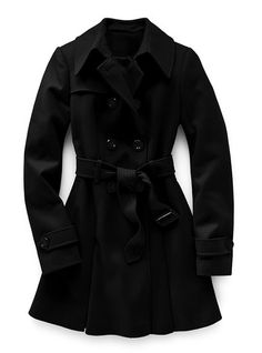 really have needed a long black dress coat - Victoria's Secret