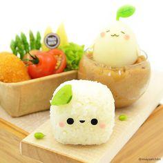 happy & cute cube sticky rice