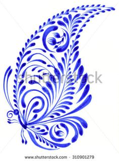 New embroidery flowers blue design ideas Butterfly Mandala, Butterfly Design, Butterfly Wings, Blue Butterfly, Embroidery Leaf, Embroidery Patterns, Pintura Tole, Sketch Inspiration, Paisley Pattern