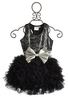 Ooh La La Wow Dream Dress in Black and Silver $112.00