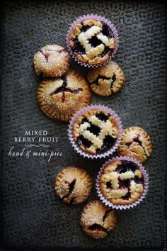 Mixed Berry Hand & Mini Pies by Naomi Robinson - Bakers Royale at BHG #recipe