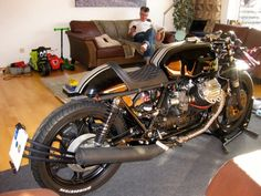 A simply stunning Moto Guzzi V1000 G5 Cafe Racer, built in Germany by David Ormerod. This seat was a brand new design built to David's specifications!
