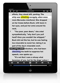 Voice Dream app --Dyslexia friendly font, Focused Reading Mode with auto-scrolling to keep you focused, full VoiceOver support, and customizable font, font size and colors.
