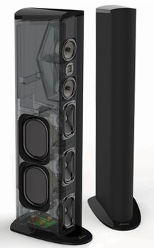 GoldenEar Technology - Triton One Tower -- Visit Glick Audio & Video's showroom ( www.glickav.com ) to listen! The Triton Series Towers are high-performance loudspeakers, with the top three models including a built-in powered ForceField subwoofer.