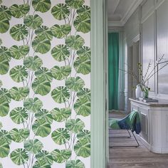 Brahmi Wallpaper in Leaf from the Zardozi Collection by Designers Guil – BURKE DECOR
