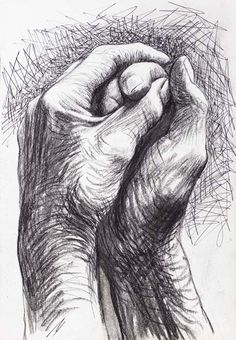 Cave to canvas, alecshao: henry moore - the artist's hands, 1974 drawing in Life Drawing, Painting & Drawing, Art Sketches, Art Drawings, Pencil Drawings, Drawings Of Hands, Drawing Hands, Sketches Of Hands, Paintings Of Hands