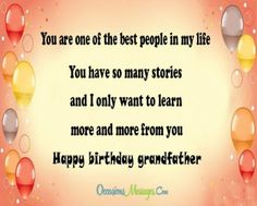 happy birthday quotes for deceased grandfather