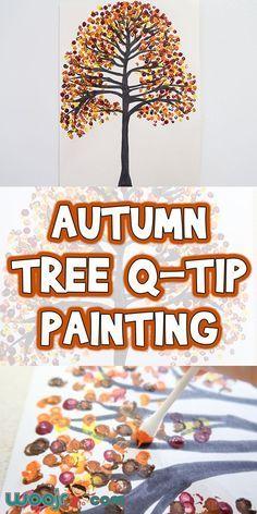 Autumn Tree Q-Tip Painting | Woo! Jr. Kids Activities