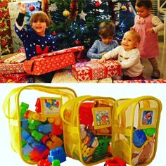 "If Santa just left a huge TOY MESS at your house use code ""holiday15"" & order your Toy Tamer Bags today!  www.kctamers.com  #momlife #toystorage #organizedmom #toys #momhacks"