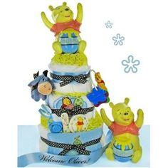 Precious Pooh 3 Tier Diaper Cake Boy, (baby toy, baby-girl-gift-ideas, accessories, baby, baby gift, baby shower gift, blanket, blankie, classic pooh, kids preferred), via https://myamzn.heroku.com/go/B003M20UOO/Precious-Pooh-3-Tier-Diaper-Cake-Boy