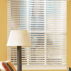 """Pretty sure these are the blinds i want in my living room, maybe a different color. @Beth Chapman.com: 2 1/2"""" Shutter Style Wood Blinds"""