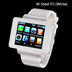 "W-Steel P2 (White): iWatch Style, MP3/MP4 Player, Bluetooth, Camera, 1.8"" Touch Screen Watch Cell PhoneCamera+ Back Camera, HDMI, Android 4.0 Ice Cream Sandwich Smartphone"