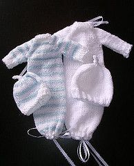 Pattern: Sleeper Sack (Adapted from Preemie Kimono by Lois Walters) Size: Less than 1 lb baby [1-3 lb baby, 3-5 lb baby]