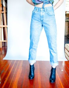 90s Carhartt Ultra High Waisted Boyfriend Jeans by Lillastrom, $42.00