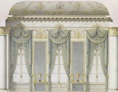 Carlo Rossi, c.1828. Window wall of the White Hall, Mikhailovsky Palace, St Petersburg.