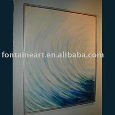 Handmade Modern Abstract Oil Painting,creamy White  swirl,50x50cm(Hong Kong)