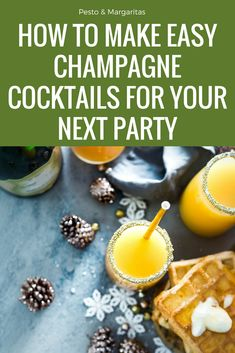 Champagne cocktails are easy to make and very tasty.  From classics like the Bucks Fizz and the Kir Royale to modern twists on favourites, these drinks often need only a few ingredients and are easy to create for a larger number of people.  Click to find the perfect recipe for your next party #cocktail #champagnecocktail #champagne #partydrink