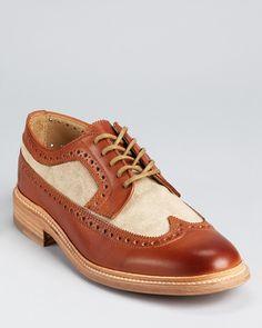 Frye James Canvas Wingtip Dress Shoes | Bloomingdale's