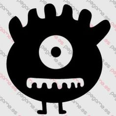Pegame.es Online Decals Shop  #monster #kids #teeth #eye #vinyl #sticker #pegatina #vinilo #stencil #decal