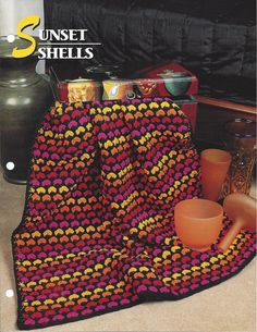 Sunset Shells  Annie's Crochet Quilt & by KnitKnacksCreations