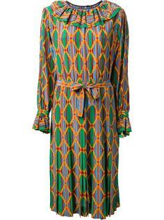 Yves Saint Laurent Vintage Harlequin Check Print Dress