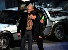 Marty McFly and the professor!