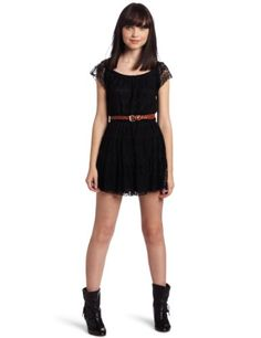 My Michelle Juniors Lace Dress With Woven Pleather « Dress Adds Everyday