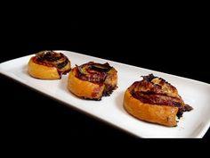 Cocinar para los amigos: Hojaldres enrollados de pimiento y jamón