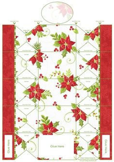 Poinsettia Cracker Box by Elaine Hayhoe A cracker shaped box, ideal for table decorations, tree decorations, place settings, and much more.…