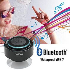 TechCode ? Mini Ultra Portable Waterproof Bluetooth Wireless Stereo Speakers with Suction Cup for Showers Bathroom 2014 blue TechCode http://www.amazon.it/dp/B00OZYOMN8/ref=cm_sw_r_pi_dp_yiyjvb1QDMQ0A