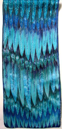 "Батик шарф  ""Синяя птица"". Handmade. #batik"