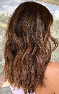 Medium Brown Hair With Highlights, Medium Brown Hair Color, Brunette Hair With Highlights, Brown Hair Balayage, Hair Color Highlights, Hair Color Balayage, Brown Hair Colors, Brown Hair With Lowlights, Brown Blonde