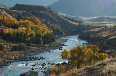 Yellowstone River where the Gardiner River enters in to it at Gardiner, Montana