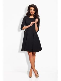 Ženska Haljina Rukava 3/4 Dužine LEMONIADE #dress #black #long_sleeve #women_fashion