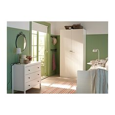 IKEA design idea -- paint the bottom 2/3 of wall to avoid color overwhelming the space