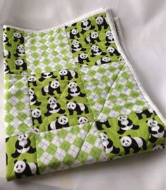 Darling Baby Quilt or Nursery Wall Hanging  by 2Fun4Words on Etsy, $59.99