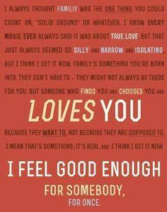 I feel good enough