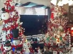 Step aside, Clark Griswold! It looks like the Rieken family of Texas might outdo you in the decorations department... 200 trees in one house?!