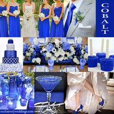 Cobalt Blue Wedding Color... mom i can see your blue glass being reeeeally useful ^_^