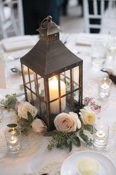 Elegant Greek Wedding Lantern centerpiece ideas