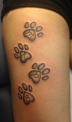 Paw prints tattoo for my furry babies | Lupus