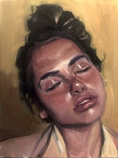 """Original Oil Painting of """"Natalie - Portrait Study Acrylic Portrait Painting, Eye Painting, Painting Of Girl, Oil Portrait, Self Portrait Art, Painting People, Painting Process, Painting Abstract, Watercolor Portraits"""
